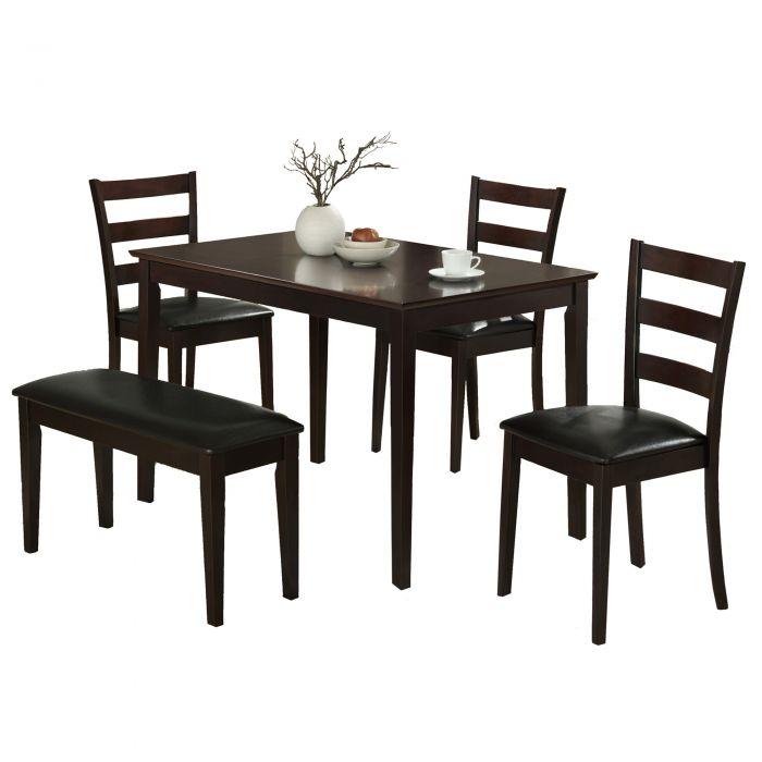 Table A Manger Avec Banc.Ens Salle A Manger 5pcs Cappuccino Avec Banc Monarch I 1211