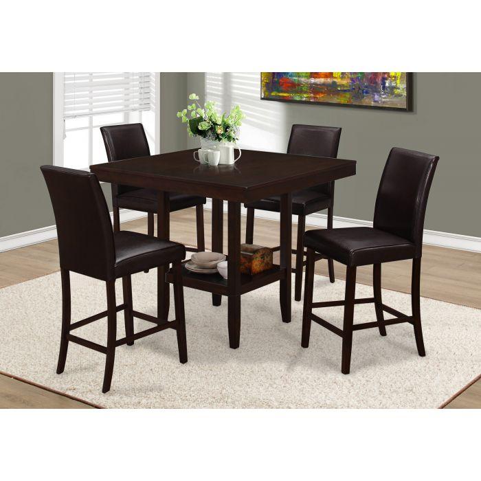 Table A Manger 42 X 42 Cappuccino Hauteur Comptoir Monarch I