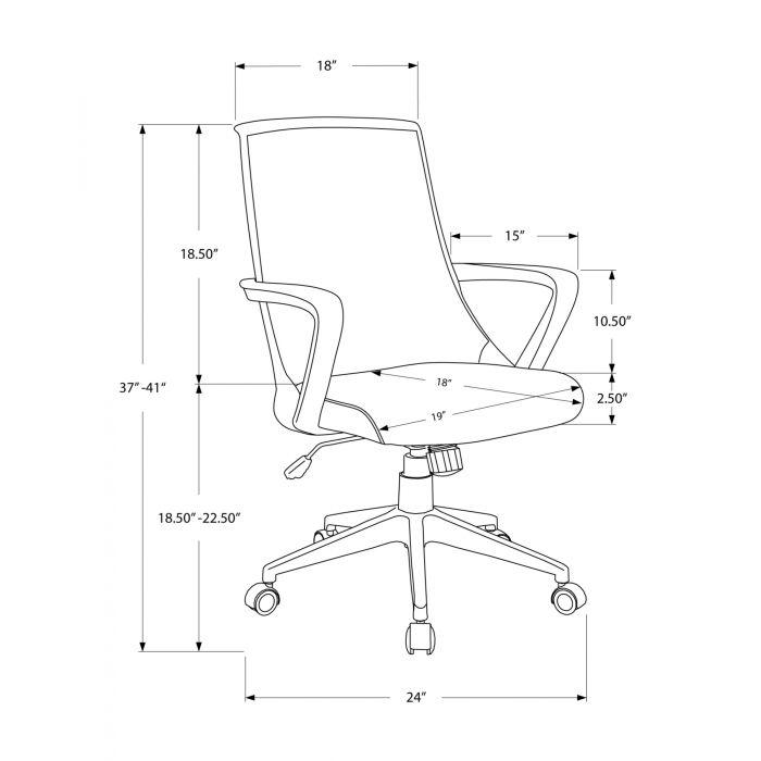 7267 Positionmonarchi Noir Chaise Bureau Multiple De Meche D2IEH9