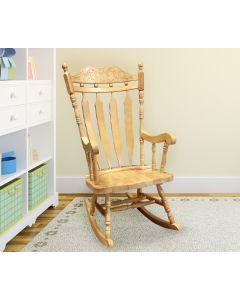 Chaise berçante en bois franc (DURA/A429/NATUREL)
