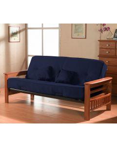 Base de futon et futon 8 pouces (PRIMO/ORLANDO/COLB/BLEU)