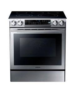 Cuisinière électrique encastrable 30'' avec four de 5,8 pi³ à double convection, autonettoyant, acier inoxydable (SAMSI/NE58F9500SS/SLIDE IN)