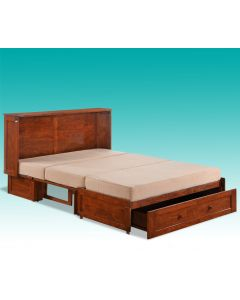 Cabinet-lit multi positions (NIGHT/MURPHY-BED/CHOCOLAT)