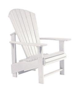 Chaise ''Upright'' Adirondack (C.R./UPADIRON C03/02 BLANC)