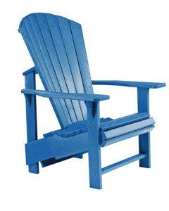 Chaise ''Upright'' Adirondack (C.R./UPADIRON C03/03 BLEU)