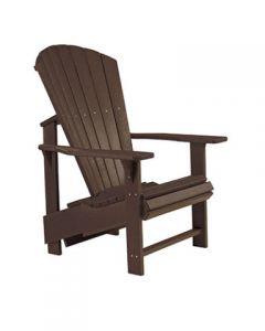 Chaise ''Upright'' Adirondack (C.R./UPADIRON C03/16 CHOCOLAT)