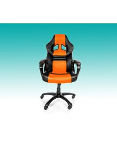 Chaise de bureau ergonomique Monza - Noir/Orange (ASI/MONZA-C/NOIR/ORANGE)