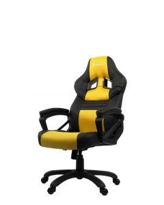 Chaise de bureau ergonomique Monza - Noir/Jaune (ASI/MONZA-C/NOIR/JAUNE)