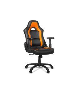 Chaise de bureau ergonomique Mugello - Noir/Orange (ASI/MUGELLO-C/NOIR/ORANGE)