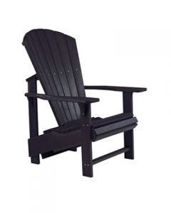 Chaise ''Upright'' Adirondack (C.R./UPADIRON C03/14 BLACK)