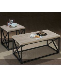 Ensemble de 3 tables de salon - Naturel (JOFRA/172/)
