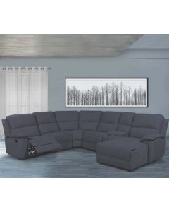 Sectionnel inclinable avec chaise longue (LIFES/U3525S-SEC/COSMO/DARK/GRAY)