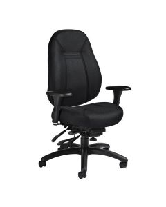 Fauteuil confortable à multi-inclinaisons ObusForme Global (SNOWD/1240-3/TISSU NOIR)