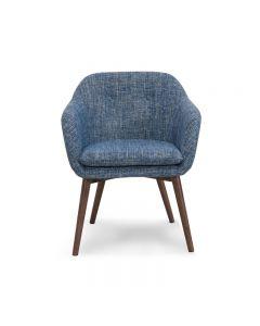 Chaise accent - Bleu (WORWI/403-194BLU/)
