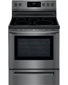 Cuisinière autonettoyante 30'' à vitrocéramique, 5,3 pi³, acier inoxydable noir (FRIGI/CFEF3054TD/)