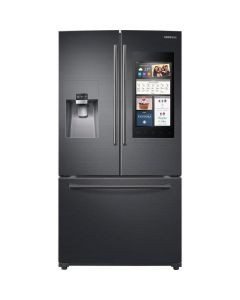 Réfrigérateur de 24,2 pi³ à portes françaises, 36'', Family Hub, Wi-Fi, acier inoxydable noir  (SAMSI/RF265BEAESG/BLACK STAINLESS)