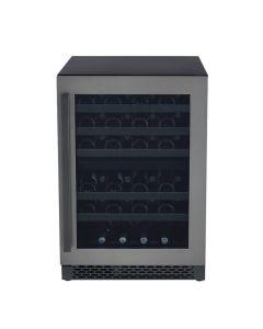 Cellier encastrable de 46 bouteilles, 2 zones et en acier inoxydable noir (MARAT/MWC24-DBLS/BLACK STAINLESS)