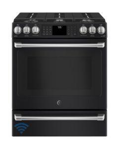 Cuisinière au gaz naturel encastrée de 30'' avec Wi-Fi Connect (GE/CCGS986EELDS/BLACK SLATE)