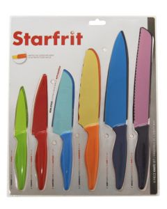 Ensemble de 6 couteaux avec étuis (RICAR/093892-006/)