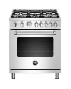 "Cuisinière à gaz 30"" Bertazzoni Master Series XE - Acier inoxydable, gaz naturel (DISTA/MAST305GASXE/LP)"