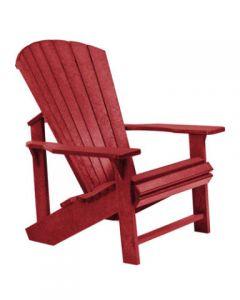 Chaise classique Adirondack (C.R./ADIRON C01/BURGUNDY-05)