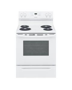 Cuisinière électrique 30'' à serpentins, four autonettoyant de 5,3 pi³, blanc (FRIGI/CFEF3016VW/)