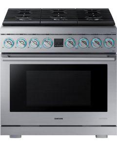 Cuisinière 36'' biénergie de la collection Chef de Samsung (SAMSI/NY36R9966PS/)