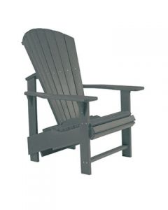 Chaise ''Upright'' Adirondack (C.R./UPADIRON C03/18 GRIS FONCE)