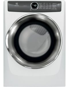 Sécheuse électrique à chargement frontal Perfect SteamMC de 8,0 pi³ avec LuxCareMD et Instant Refresh (ELLUX/EFMC527UIW/)