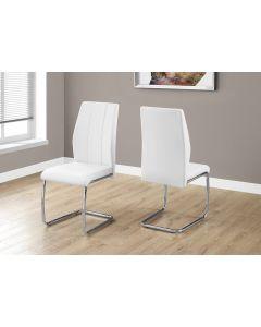 Chaise de cuisine en simili cuir blanc (MONAR/I-1075/)