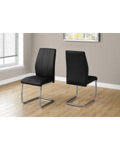 Chaise de cuisine en similicuir noir (MONAR/I-1076/)