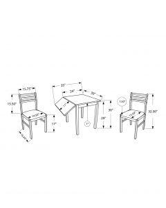 ENS SALLE A MANGER - 3PCS / COTE ABAISSANT CAPPUCCINO (MONARCH/I 1078)