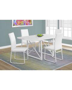 "TABLE A MANGER - 36""X 60 / BLANC LUSTRE / METAL BLANC (MONAR/I-1101/)"