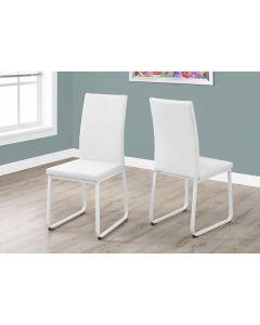 Chaise de cuisine en simili cuir blanc (MONAR/I-1102/BLANC)