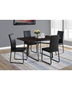 "TABLE A MANGER - 36""X 60"" / CAPPUCCINO / METAL NOIR (MONARCH/I 1105)"