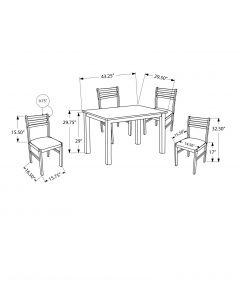 ENS SALLE A MANGER - 5PCS / PLAQUE CAPPUCCINO (MONARCH/I 1111)