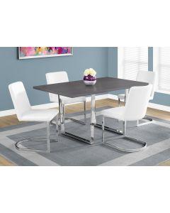 "TABLE A MANGER - 36""X 60 / GRIS / METAL CHROME (MONARCH/I 1120)"