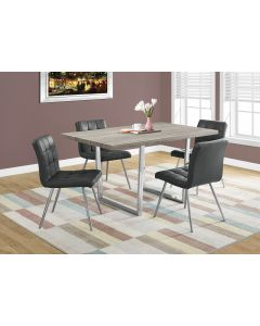 """TABLE A MANGER - 36""""X 60 / TAUPE FONCE / METAL CHROME (MONARCH/I 1121)"""
