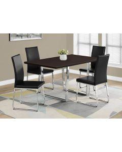 "TABLE A MANGER - 36""X 60 / CAPPUCCINO / METAL CHROME (MONARCH/I 1122)"