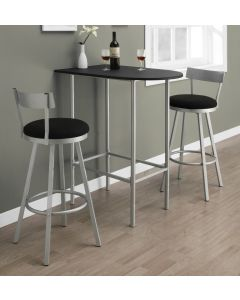 "TABOURET DE BAR - 2PCS / 43""H / PIVOTANT / ARGENT (MONARCH/I 2332)"