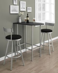 "BAR MAISON - 24""X 36"" / NOIR / METAL ARGENT GAGNE-PLACE (MONARCH/I 2335)"