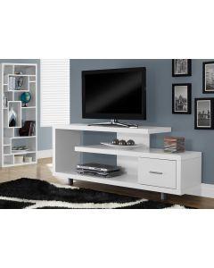 "MEUBLE TV - 60""L / BLANC AVEC 1 TIROIR (MONAR/I-2573/)"