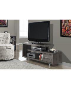 """MEUBLE TV - 60""""L / TAUPE FONCE AVEC 1 TIROIR (MONAR/I-2574/)"""