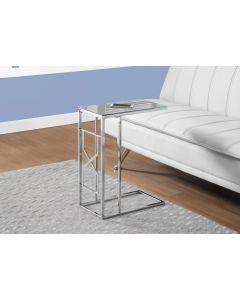 TABLE D'APPOINT - DESSUS MIROIR / METAL CHROME (MONAR/I-3175/)