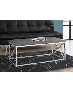 TABLE DE SALON - GRIE ET METAL CHROME (MONAR/I-3225/)