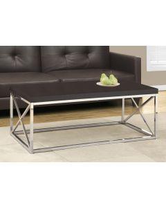 TABLE DE SALON - CAPPUCCINO / METAL CHROME (MONAR/I-3270/)