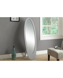 "MIROIR - 59""H / GRIS / OVAL CONTEMPORAIN SUR PIED (MONARCH/I 3359)"