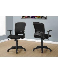 Chaise de bureau noir multi-positions (MONAR/I-7265/NOIR)