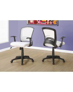 Chaise de bureau blanche multi-positions (MONAR/I-7266/BLANCHE & NOIR)