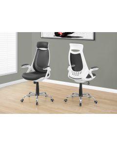 Chaise de bureau en tissu et à dossier haut  (MONAR/I-7269/BLANC)